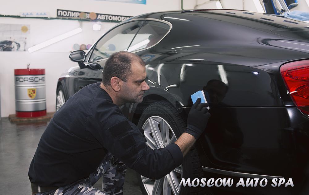 Полировка автомобиля жидкое стекло
